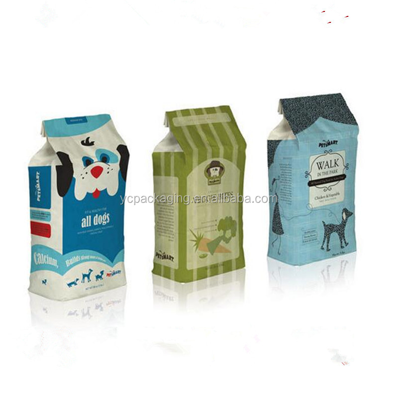 customize China wholesale laminated plastic cat food stand up bag/clear plastic bags