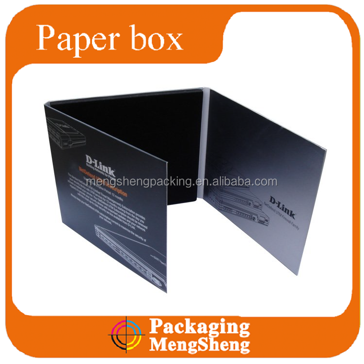 Custom CD DVD wedding DVD paper case packaging box