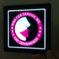 chargeable U square LED light with customized logo for car service