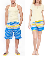 Wholesale summer casual trouser quick dry drawstring mens beach pants