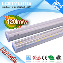 Replacement ring lighting leeds factory shop T5 double led tube AL housing + PC cover UL ETL Rohs approved double T5 led batten