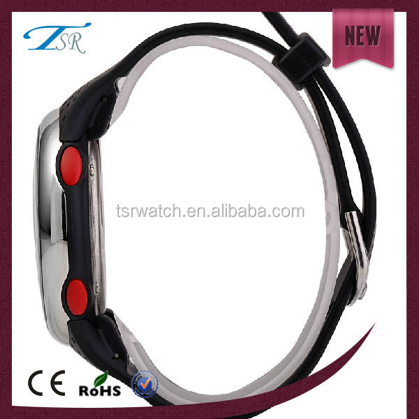 3ATM waterproof digital thin rubber sports watch