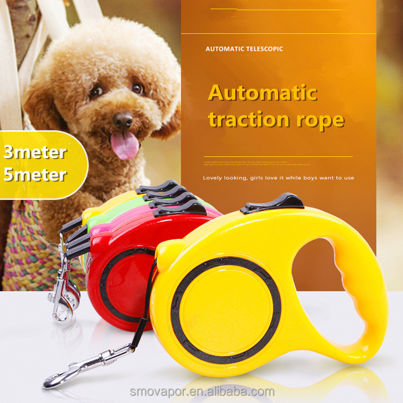 Fashion nylon dog leash with strong retractable