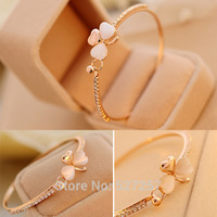 Women Charm Flower Crystal Gold Plated