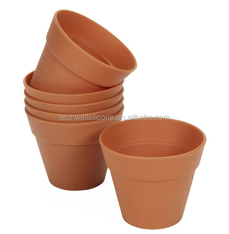 Home Baking Hot Sell silicone flower pot mold