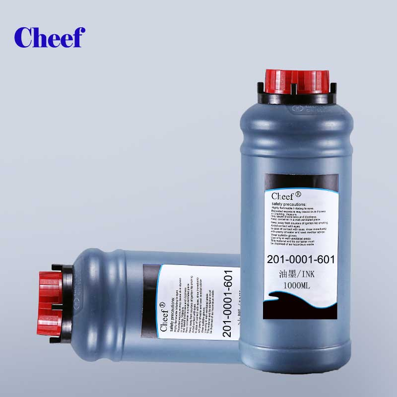 industrial black 1L PET glass bottle printing ink for willett inkjet coding machine