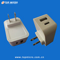Wholesale Quick Charge Dual 2.4A USB 3A Type-C Wall Charger with EU US UK Plug Travel Adapter