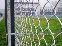 Used galvanized green PVC chain link fence for sale