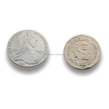 Die cast figure token coin, replica coin, silver color coin with factory price