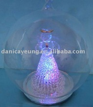 LED light up /glowing glass ball with angel inside