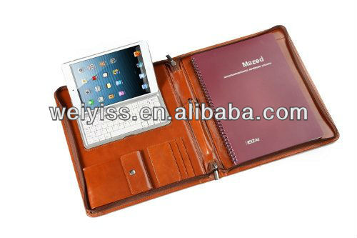 Portfolio with Bluetooth Keyboard and Portrait or Landscape Viewing for Ipad Mini