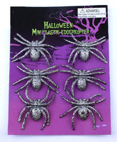 Glitter halloween decorative spider joking toy realistic prank toy