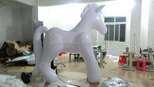 Indoor / Outdoor Event PVC Inflatable Advertising Products White Inflatable horse