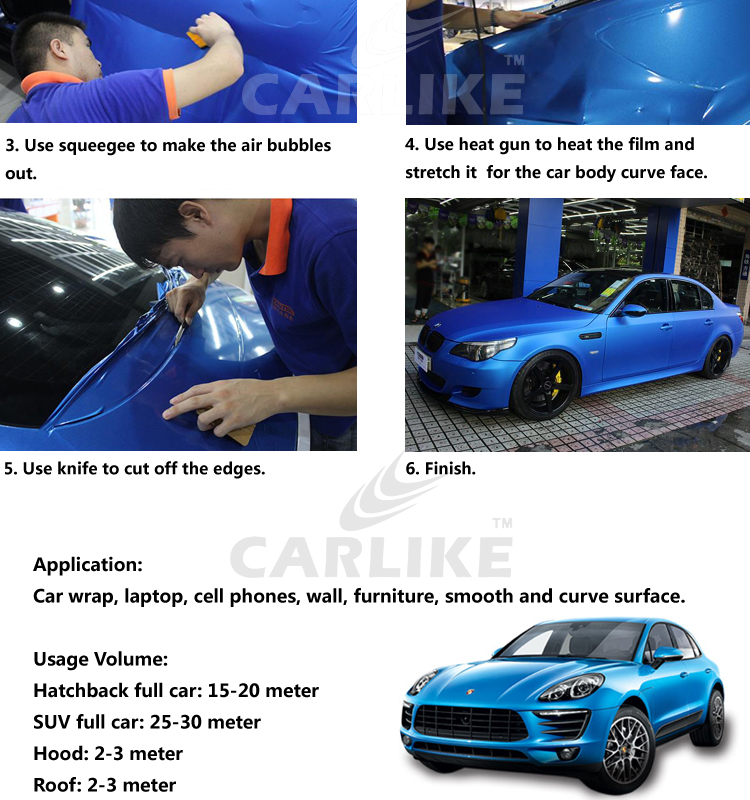 CARLIKE Chameleon Glitter Full Vehicle Auto Body Sticker Car Wraps Vinyl