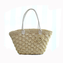 newest crochet bags handmade nature straw beach bags tote bags wholesales and cheap