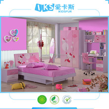 pink colorful children bedroom furniture antique european style furniture 8863