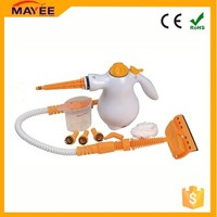 Handheld white and orange home appliance steam iron easy cleaner