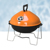 "Porcelain Enameled 14"" Round Tabletop Charcoal Barbecue Grill"