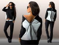 latest designs black and gray patchwork back zipped sexy t-shirt wholesale clothing t shirts manufacturers china ZC1956
