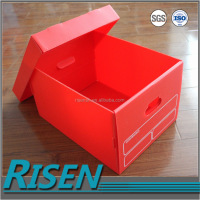 Custom made anti- static and available wholesale coroplast plastic office storage boxes