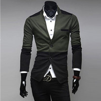 Wholesale 2016 new arrival patchwork colors design with cotton and polyester stylish mens blazer,men suit