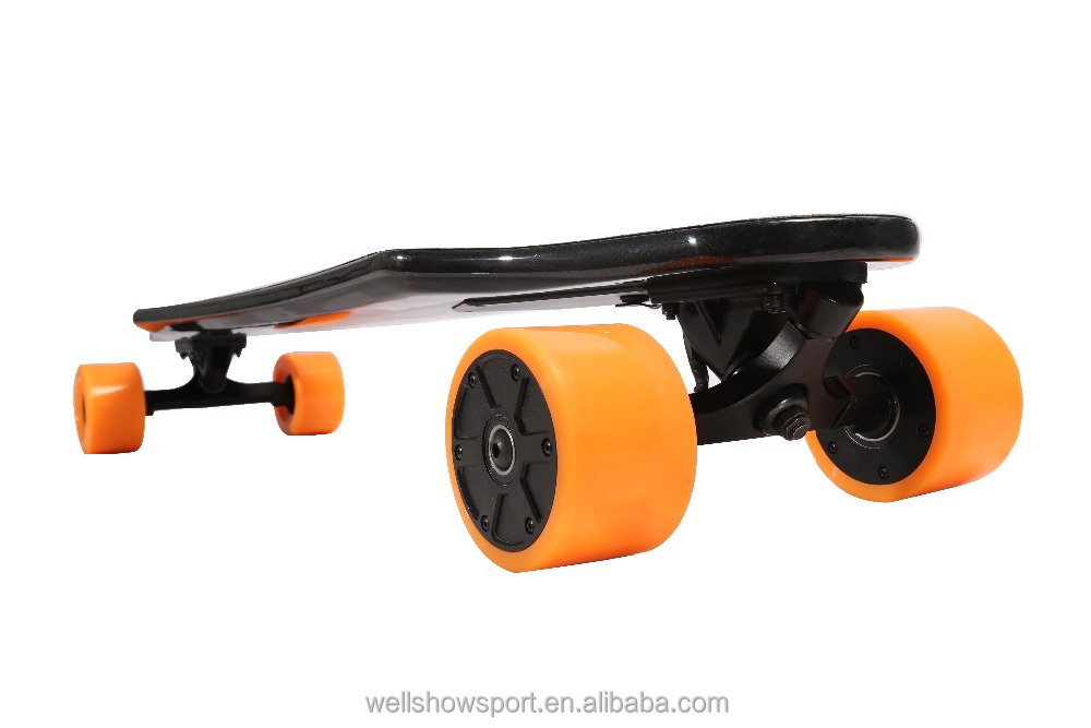 Wellshow Sport Lightest,most Advanced Carbon Fiber Electric Longboard Skateboard Controlled By Handhold Wireless Remote