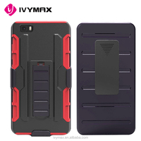 IVYMAX new kickstand heavy duty belt clip robot combo case for HUAWEI P8 LITE