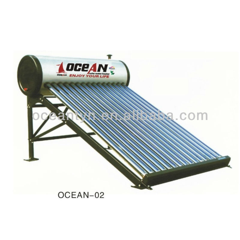 Directly flow in solar water heaters, solar gravity heating system, low pressure solar water heaters