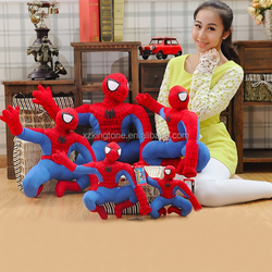 2017 new design soft stuffed fluffy spider-man toys
