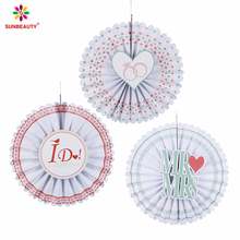 wedding hanging tissue paper fan backdrop round fans wedding favors for Party Decoration