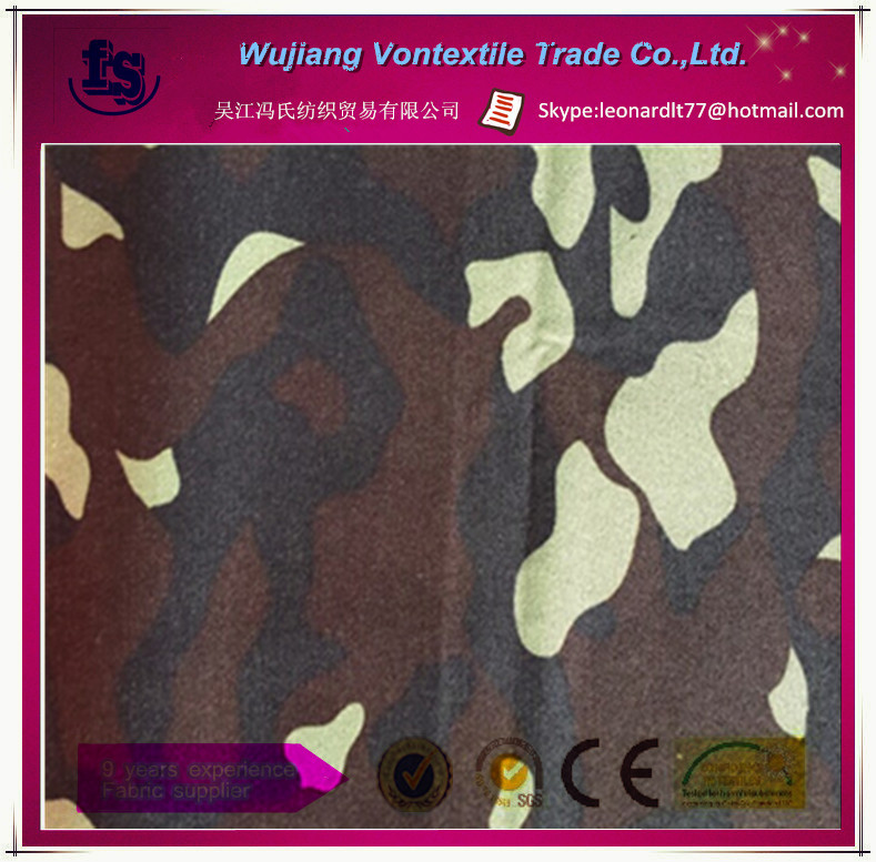 China factory supply 100% polyester 600D oxford camouflage fabric with PU/PVC coating