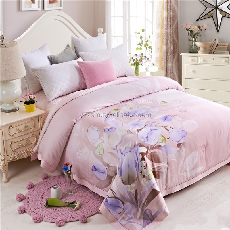 Cheap Super Soft Colorful Quilted Bedspread Embroidered Cover Cheap Feather Down Duvet