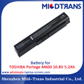 Laptop spare parts replacement battery for TOSHIBA Portege M600 10.8V 5.2Ah