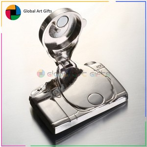 2018 Custom OEM metal 3D special camera shape fridge magnet for craft gifts
