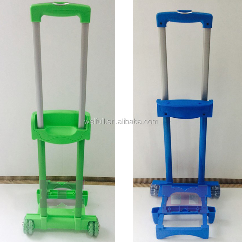 Custom push button luggage pull trolley handle