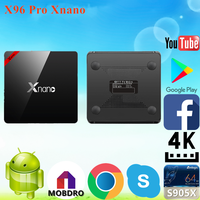 2017 hot sale X96 Pro Xnano S905X 2g 16g android tv box with sim card CE&ISO Android 6.0 TV Box