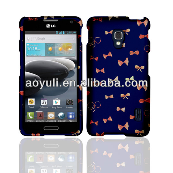 for LG cute case, hard case for LG Optimus f6 with dark blue, phone case