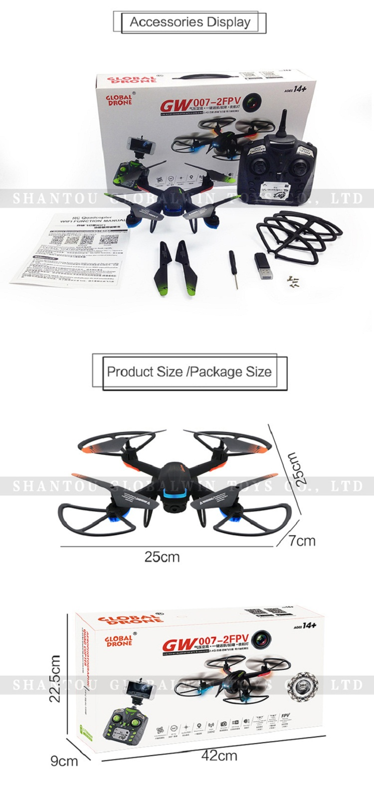 Global Drone GW007-2 Rc dron with camera Headless Mode RC Quadcopter with Wifi FPV drone with hd camera profession vs jjrc h31