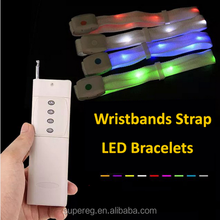 Fashion Led Bracelet With Remote Control Glowing Wristbands Strap Bracelet Nylon Bangles Bracelets for Party Event