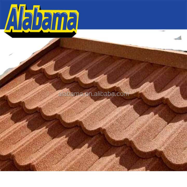 Soncap Certificate Low Cost Materials Waterproof Metallic Strong Adhesive Flant Braas Prepainted Eco-friendly Roof Tile