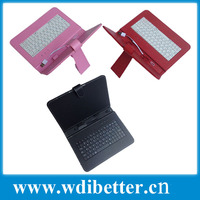 "PU Leather Case Cover Stand for 7"" 7 Inch Android Tablet USB Keyboard Case"