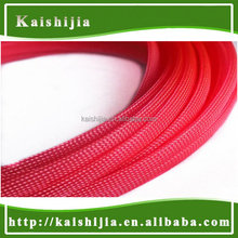 12mm Red 12mm Expandable Braided High density PET Protective Cable Sleeving
