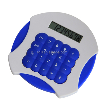 Round silicone big size desktop Calculator with 8 digits