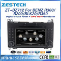 ZESTECH Double din car dvd player with arabian,Portugal,russian osd menu for Mercedes Benz B200/BLK200/R300/R350 car dvd gps