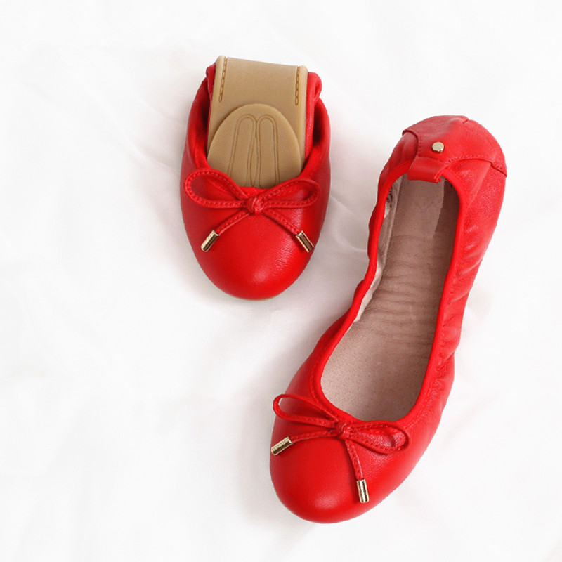 New product best quality spring and autumn pu upper soft sole ladies flat shoes