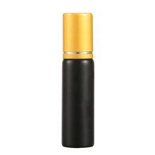 1Ml Black Glass Vial Essential Oil Small Bottle With Gold Caps