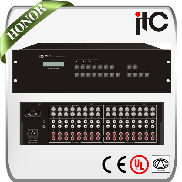 ITC AV 16 Series 16 in 4/8/16 out Composite Seamless Video Matrix Switcher