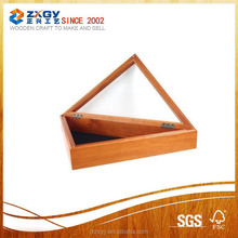 Fashion design wooden flag case flag container case with competitive price