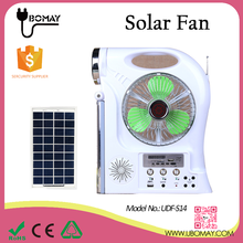 2017 New Home Rechargeable Emergency Solar Table Fan with LED Light