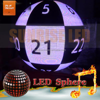 Advertising led ball led screen indoor 360 sphere P4 P6 P10 led display
